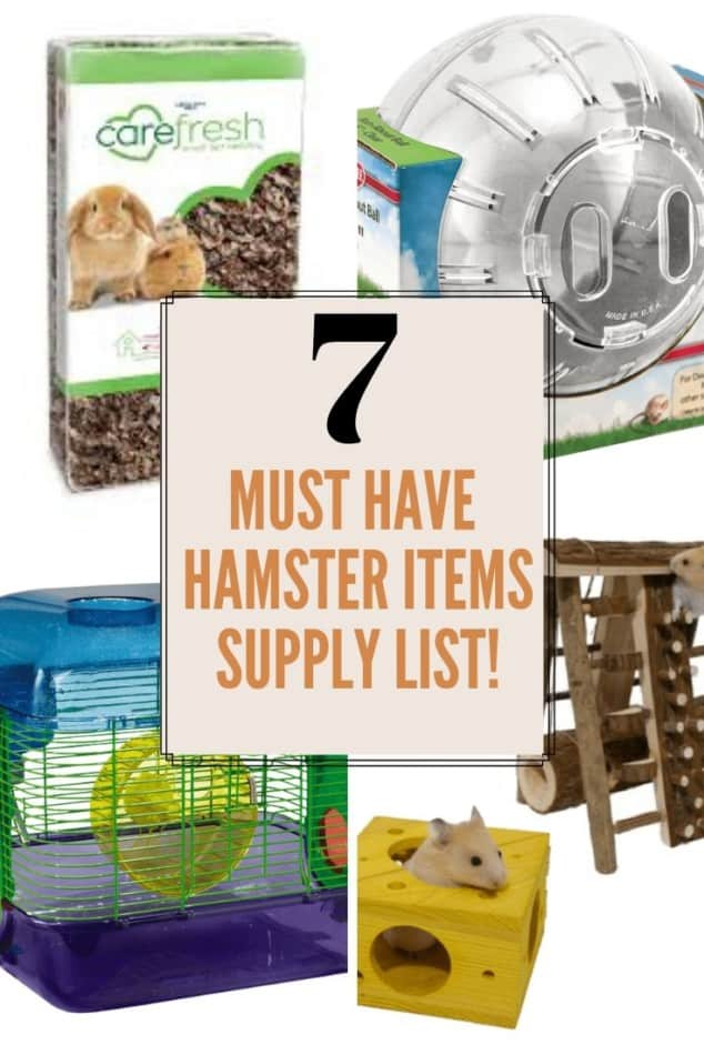 7 must have hamster items-supply list